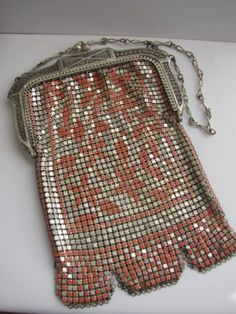 Vintage Whiting Davis Mesh Purse with by ToadSuckTreasures on Etsy, $140.00