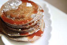 Buckwheat pancakes with blood orange syrup - Saffron and Honey