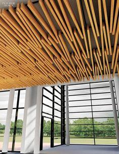 Falso techo decorativo de madera con l minas - Falso techo decorativo ...