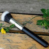 Calidad estupenda pelo de la cabra y Slender Profesional Duo de fibra sintética de cepillo del maquillaje real Contour Brush Paint técnica Loose
