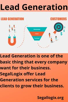 Lead Generation is one of the basic thing that every company want for their business. SegalLogix offer Lead Generation services for the clients to grow their business. Facebook Marketing, Social Media Marketing, Digital Marketing, Search Ads, Google Ads, Competitor Analysis, Facebook Instagram, Search Engine Optimization, Lead Generation