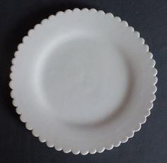 White eathenware plate