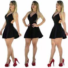 Vestido curto cintura marcada Princesa Panicat Chic Black Outfits, Sexy Outfits, Sexy Dresses, Casual Dresses, Short Dresses, Fashion Outfits, Cute Outfits, Sexy Skirt, Dress Skirt