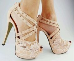 tan laced with gold studs