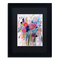Trademark Fine Art Fresh Bouquet Matted Framed Wall Art,