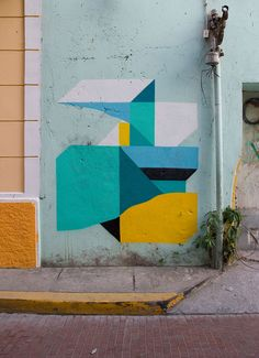 By French street artist and abstract painter Nelio.