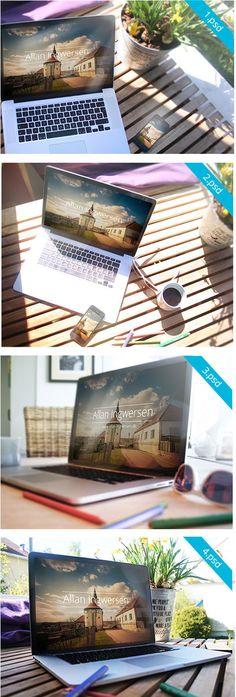 4 Free PSD Mockups by Allan Ingwersen – MightyDeals