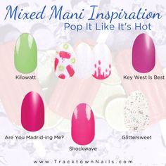 Nail Color Combos, Nail Colors, Color Nails, Flamingo Nails, What Are Colours, La Nails, Diy Manicure, Color Street Nails, Nail Tips