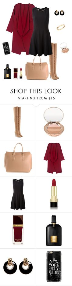 """""""Untitled #236"""" by micha-p ❤ liked on Polyvore featuring Balmain, Boots No7, Ermanno Scervino, WithChic, Pinko, Dolce&Gabbana, Tom Ford, Kenneth Jay Lane, Casetify and Cachet"""