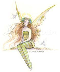 illustration fairy art by Sara Burrier