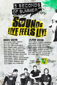 xx Sounds Good Feels Good European dates I'M CRYING 'CAUSE HELSINKI! (And I didn't get tickets...)