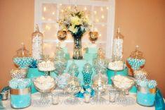 Tiffany decoraciones de la boda del tema azul