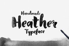 Love this hand brushed font!