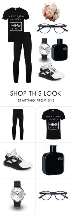 """""""my boyfriend"""" by olive0live ❤ liked on Polyvore featuring Hilfiger Denim, NIKE, Lacoste, KENNY, men's fashion and menswear"""
