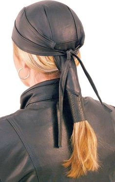 Skull Cap With Pony Tail Hair Wrap #BAND316