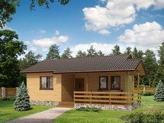 Best dr-S to mały (34,6 m2) domek letniskowy, idealny  na weekendowe wypady za miasto. Szczegóły projektu na stronie: http://www.domywstylu.pl/projekt-domu-best_dr-s.php.  #best #domywstylu #mtmstyl #projektygotowe #małeitaniewbudowie #domyrekreacyjne #domyletniskowe