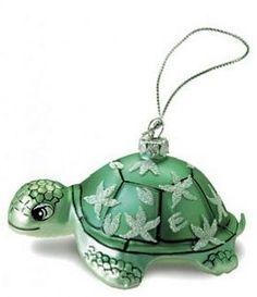 """Honu Turtle"" Glass Ornament (Hula Island)"