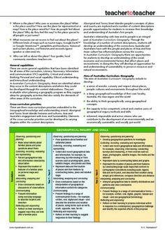 AUSTRALIAN CURRICULUM GEOGRAPHY OVERVIEW - TeachersPayTeachers.com. FREE download.