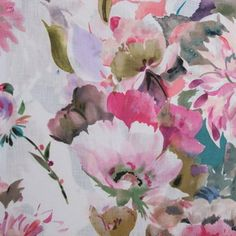 Hertex Collections Hertex Fabrics, R Colors, Harvest Moon, Raspberry, Watercolor, Art Prints, Floral, Projects, Paintings