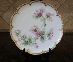 Haviland Limoges Pink Bell-shaped flowers Plate w Scalloped Edges Gold Rim by KatsVintageTreasures on Etsy