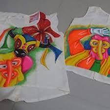 Resultado de imagen para camisetas de carnaval pintadas a mano Hand Embroidery, Kids, Brazil, Craft, Fashion, T Shirt Painting, Chemises, Projects, Manualidades