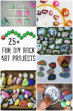 25+ Fun DIY Rock Art Projects to Try - a collection of different DIY projects to try for home or your classroom   you clever monkey