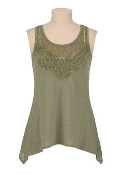 sharkbite hem tank with lace (original price, $26) available at #Maurices