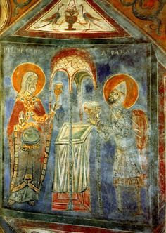 Anagni Italie   Italie, Agnani, Cathedrale, Fresque de la crypte, Le sacrifice d ...