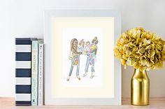 Excited to share the latest addition to my #etsy shop: Friends Custom Portrait, Mommy Portrait, Custom Illustration, Watercolor Illustration, Custom Watercolor http://etsy.me/2nm5mr8 #art #painting #giftforfriend #momgift #mothersdaygift #watercolorportrait #customport