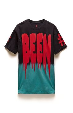A PacSun.com Online Exclusive! PacSun presents the Been Trill Scheme T-Shirt for men. This two tone men's t-shirt comes with a gradient look and dripping Been Trill graphics on the front, back, and sleeves.	Two tone tee with Been Trill graphics on front, back, and sleeves	Crew neck	Short sleeves	Regular fit	Machine washable	100% cotton	Imported