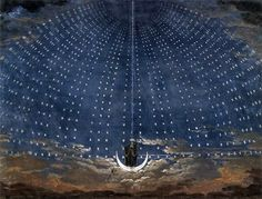 Karl Friedrich Schinkel- Starry Sky for the Queen of the Night (1815) Set design for Mozart's operaThe Magic Flute