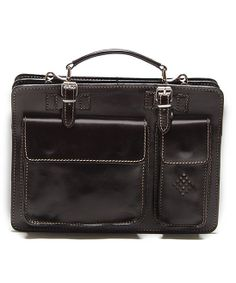 When one must be businesslike, it's best to do it with flair and polish. This one appears to be really well thought out, too. -Testa Di Moro Structured Leather Satchel