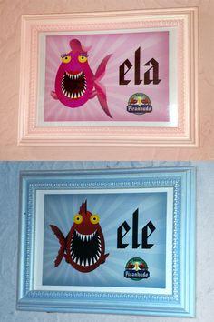 Placas de banheiros para o Boteco Piranhudo