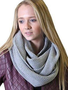 Viverano 100% Organic Cotton Infinity Knit Scarf Soft