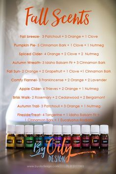 How to use Essential oils to create an amazing fall scent recipes for your home…