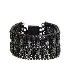 Black Deco Bracelet by Leetal Kalmanson