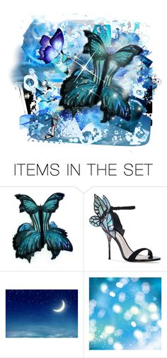"""""""Emergence from the Blue, The Butterfly still carries on"""" by allyssister ❤ liked on Polyvore featuring art"""