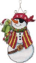Dimensions Pirate Snowman Whimsies Cross Stitch Kit