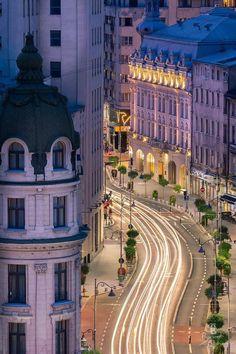 Calea Victoriei /Victory Avenue by night