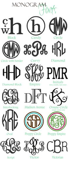 Monogram! Make it personal!
