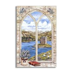 Shop for Arch Window and Book Faux Window Scene. Get free shipping at Overstock.com - Your Online Home Decor Outlet Store! Get 5% in rewards with Club O!