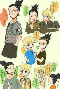(naruto fanfic / time travel) by larinico (Tsuki no hikari) with reads. Naruto Shippuden Sasuke, Naruto Kakashi, Sasunaru, Anime Naruto, Shikadai, Naruto Comic, Shikatema, Naruto Cute, Gaara