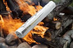 Make a Fire Log Out of Newspaper... soak it in water, let it dry out.