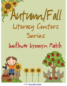 This is part of my Autumn/Fall themed Literacy Center series. For this activity, students match up synonyms and record them on a recording shee...