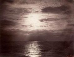 Gustave le Grey, Solar Effect in the Clouds – Ocean, albumen print from a collodion-on-glass negative, acquired by the British Museum in 1857 and transferred to the VA in Museum no. Abstract Photography, Artistic Photography, Photography Ideas, Vintage Photography, White Photography, Southampton, Gustave Le Gray, Lights Fantastic, 6 Photos