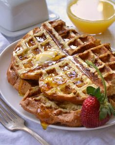 Put your French toast on the waffle iron for a new twist! I'm so going to try this!
