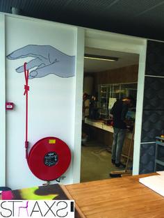 Straxs Nederland   Bogerman Diy Interior, Office Interior Design, Office Interiors, Interior Architecture, Office Walls, Office Decor, Mural Art, Wall Murals, Office Pods