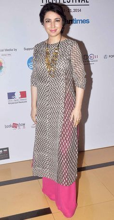 Tisca Chopra on Day 4 of the 16th Mumbai Film Festival. #Bollywood #Fashion #Style #Beauty