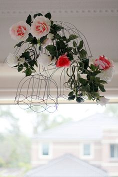 flowers & lampshade frames