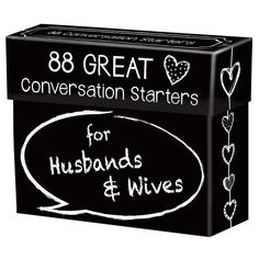 88 Great Conversation Starters for Husbands and Wives – Romantic Card Game for Married Couples – Christian Adult Games, Communication & Marriage Help, Fun Anniversary or Wedding Gifts for the Couple - Toys Bday Gifts For Him, Surprise Gifts For Him, Thoughtful Gifts For Him, Romantic Gifts For Him, Romantic Cards, Gifts For Wife, Christian Art Gifts, Christian Cards, Games For Married Couples